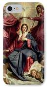Coronation Of The Virgin IPhone Case by Diego Velazquez