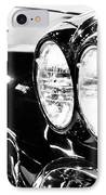 Corvette Picture - Black And White C1 First Generation IPhone Case