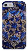 Cosmic Blue Lotus IPhone Case