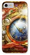 Cosmic Clock IPhone Case by Ciro Marchetti