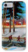 Country Hockey Rink IPhone Case