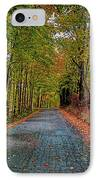 Country Lane In Autumn IPhone Case