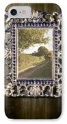 Country Lane Reflected In Mirror IPhone Case by Amanda Elwell