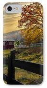 Country Times IPhone Case by Debra and Dave Vanderlaan