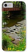 Covered Bridge IPhone Case by Frozen in Time Fine Art Photography