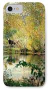 Cow By The Pond IPhone Case