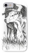 Cow In Pen And Ink IPhone Case