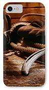 Cowboy Horseshoe IPhone Case by Olivier Le Queinec