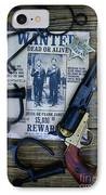 Cowboy - Law And Order IPhone Case by Paul Ward