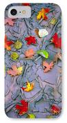 Cracked Mud And Leaves IPhone Case