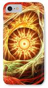 Creation Of Sun IPhone Case by Lourry Legarde