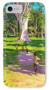 Cricket Match St George Granada IPhone Case by Andrew Macara