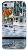 Crimson Tide In Harbor IPhone Case by Michael Thomas