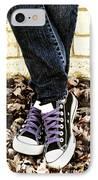 Crossed Feet Of Teen Girl IPhone Case