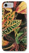 Croton Leaves IPhone Case