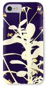 Crown Of Thorns - Indigo IPhone Case by Shawna Rowe
