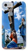 Cruficix Statue At St Alphonsus Church Wexford  IPhone Case by Amy Cicconi