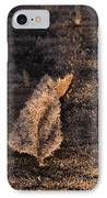 Crystal Leaf IPhone Case by Anne Gilbert