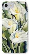 Cubist Lilies IPhone Case by Catherine Abel