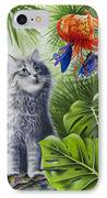 Curious Kiwi IPhone Case by Carolyn Steele