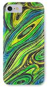 Curved Lines 5 IPhone Case by Sarah Loft