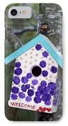 Cute Little Birdhouse IPhone Case by Carol Leigh