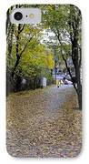 Cyclist And Dog Entering Park IPhone Case by Imran Ahmed