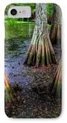 Cypress Waltz IPhone Case by Karen Wiles