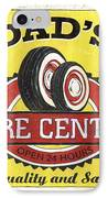 Dad's Tire Center IPhone Case by Debbie DeWitt