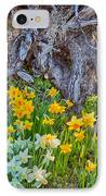Daffodils And Sculpture IPhone Case