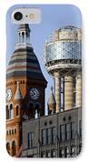Dallas Downtown IPhone Case by Elena Nosyreva