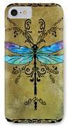 Damselfly Nouveau IPhone Case by Jenny Armitage