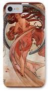 Dance IPhone Case by Alphonse Maria Mucha