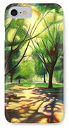Dancing Shadows IPhone Case by Sheila Diemert