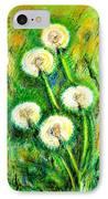 Dandelions IPhone Case by Zaira Dzhaubaeva