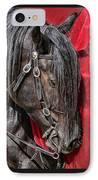 Dark Horse Against Red Dress IPhone Case