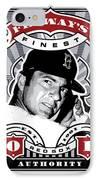 Dcla Carl Yastrzemski Fenway's Finest Stamp Art IPhone Case by David Cook Los Angeles