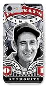 Dcla Ted Williams Fenway's Finest Stamp Art IPhone Case by David Cook Los Angeles