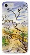 Death Valley- California Sketchbook Project IPhone Case by Irina Sztukowski