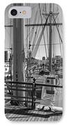 Deck Of Balclutha 3 Masted Schooner - San Francisco IPhone Case by Daniel Hagerman