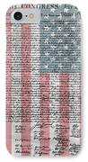 Declaration Of Independence IPhone Case by Dan Sproul