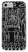 Decorated Elephant IPhone Case by Caroline Street