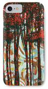 Decorative Abstract Floral Bird Landscape Painting Forest Of Dreams II By Megan Duncanson IPhone Case by Megan Duncanson