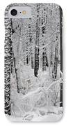 Deep Snow In The Forest IPhone Case