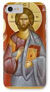 Deisis Jesus Christ St Nicholas And St Paraskevi IPhone Case by Julia Bridget Hayes