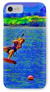 Delta Blue Wind Sailing IPhone Case by Joseph Coulombe