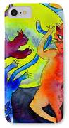 Demon Cats Dance By The Light Of The Moon IPhone Case by Beverley Harper Tinsley