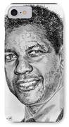 Denzel Washington In 2009 IPhone Case by J McCombie