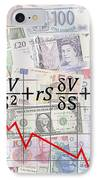 Derivatives Financial Debacle - Black Scholes Equation IPhone Case