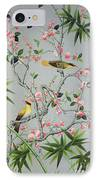Detail Of The 18th Century Wallpaper In The Drawing Room Photograph IPhone Case by John Bethell
